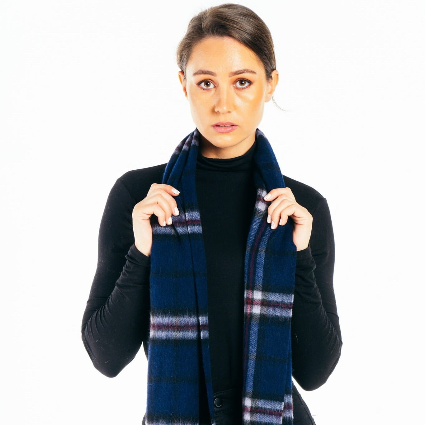 Thomson Navy Lambswool Scarf