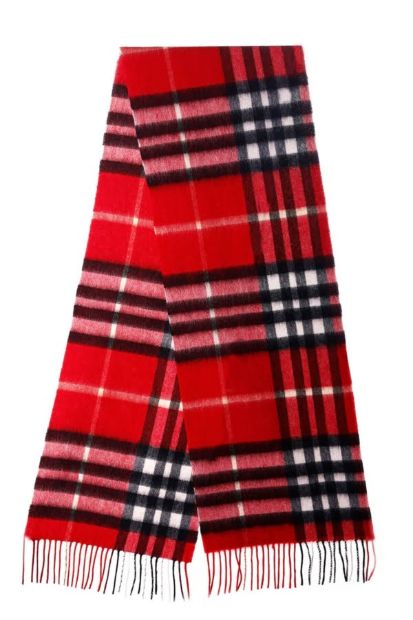 edinburgh cashmere red check lambswool scarf e1622477811234